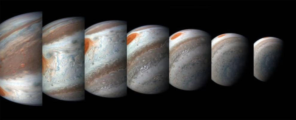 planet jupiter great red spot series juno perijove 12 april 2018 nasa jpl msss swri gerald eichstaedt sean doran