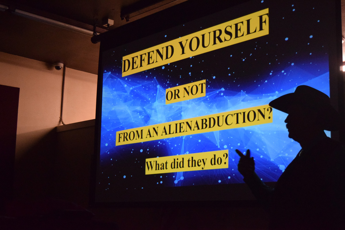 Derrel Sims presentation on Defending yourself from Alien abduction