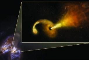 Arp 299 supermassive black hole eating a star