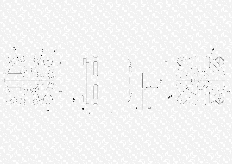 S Sensored Outrunner Brushless Motor 50kv W