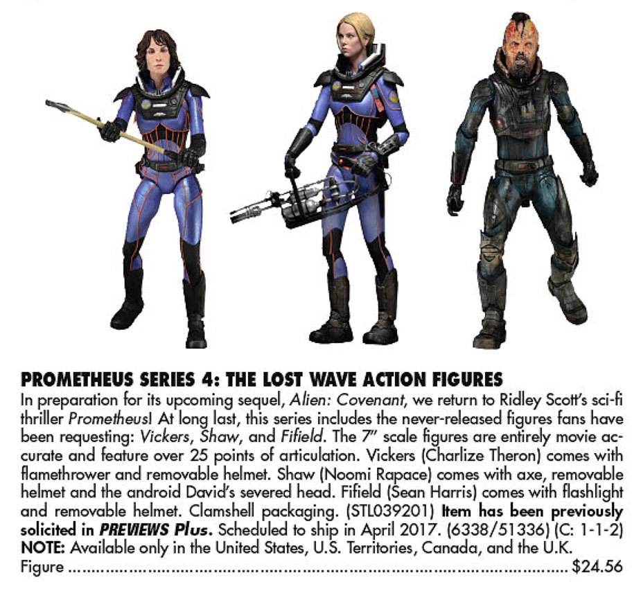 Prometheus Series 4 Action Figures (2017)