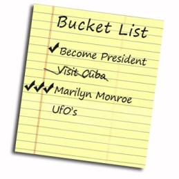 JFK Bucket List UFOs Cuba Marilyn Monroe