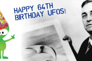 First UFO sighting | Flying saucers turn 64!