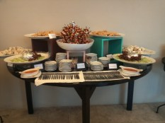 mini snacks at the ballroom hallway
