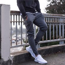 New sportswear fitness Pants Casual Quality Mens Fitness Workout Pants skinny Sweatpants Trousers Jogger Pants Solid Breathable