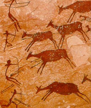 Caçadors prehistòrics (Tassili n'Ajjer, sud d'Algèria)