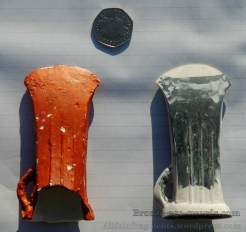 The resin model (left) and Neil's reconstruction model ready for building the mould
