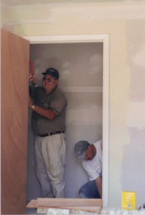 dry walling a closet!