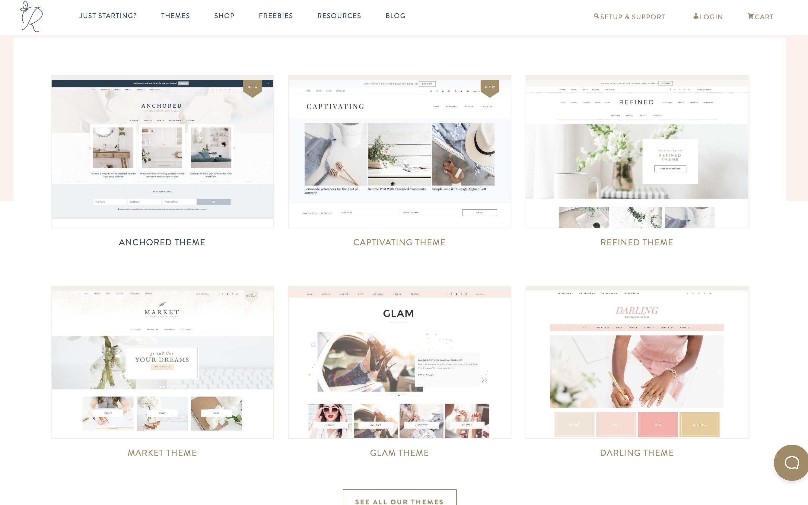 Best WordPress themes for my blog. Pretty feminine wordpress themes