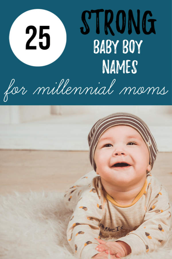25 Unique, strong baby boy names with strong and powerful meanings. Chose one of these cute baby names for your little guy and love it forever. #babynames #boynames #strongbabyboynames