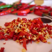 Homemade chili flakes
