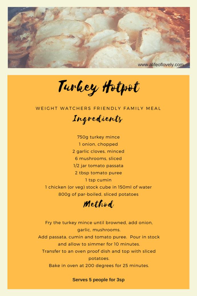 weight watcher flex turkey hotpot recipe