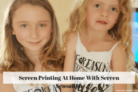 Screen Printing At Home With Screen Sensation