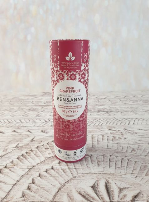 Ben & Anna Natural Soda Deodorant - Pink Grapefruit (Paper Tube)