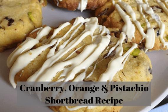 Cranberry, Orange & Pistachio Shortbread Recipe