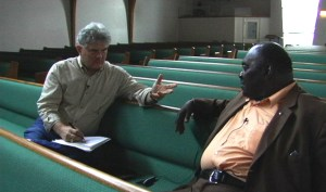 Robert Darden with Deacon Burton.