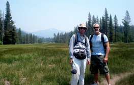 Me and Thomas M. Harting, CSC, Mt. Lassen, CA. Photo by Danica Li Roth.