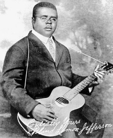 The only known photograph of Blind Lemon Jefferson
