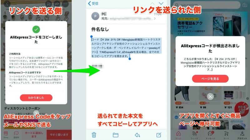 リンクを送る側のページとリンクを送られた側のページ