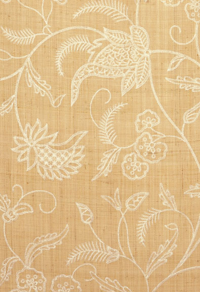 Sconset Embroidered Raffa Grasscloth Wallpaper by F.Schumacher