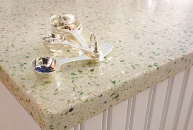 Recycled Glass & Cement  Counter Top by IceStone