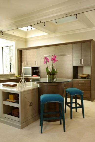 Contemporary Kitchen with Built-ins by Christy Dillard Kratzer