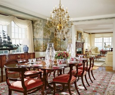 Nantucket, MA Dining Room designed by Elissa Cullman