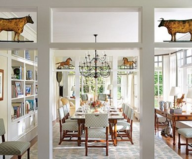 Traditional Cottage Dining Room by Elissa Cullman