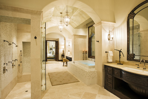 Luxury Master Bath by Castle Pointe Homes