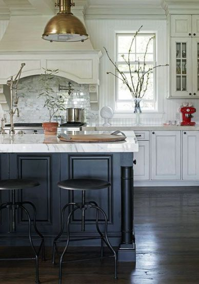 Mixed Metals Kitchen by Holly Mathis Interiors