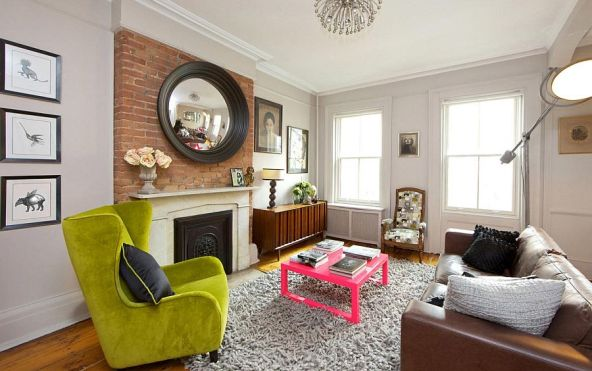 Lime Green Wingback Chair, The New Design Project