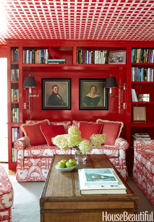 Red Library by Ramsay Gourd, House Beautiful