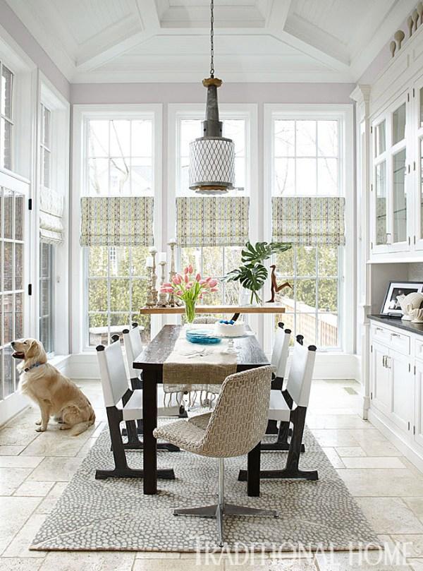 Kitchen Breakfast Room Invites Outside In, Buckingham Interiors + Design