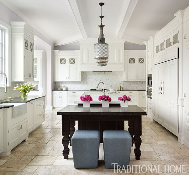 Smart Kitchen Details, Island with Table with Seating and Workspace, Buckingham Interior Design
