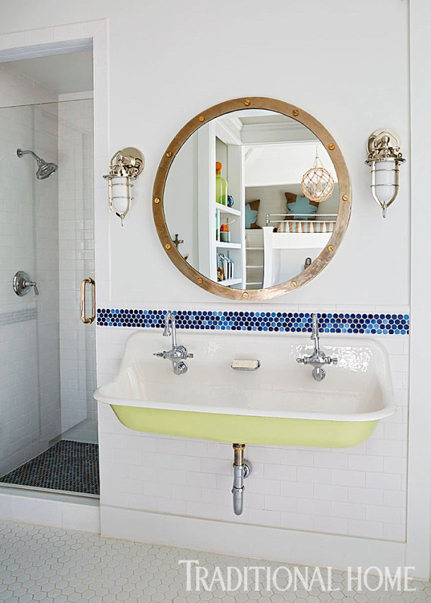 Bunk Bathroom with Trough Sink by Kohler, Mary McWilliams