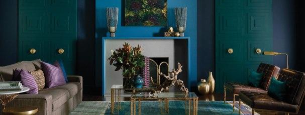 Noir Living Room, Sherwin Williams