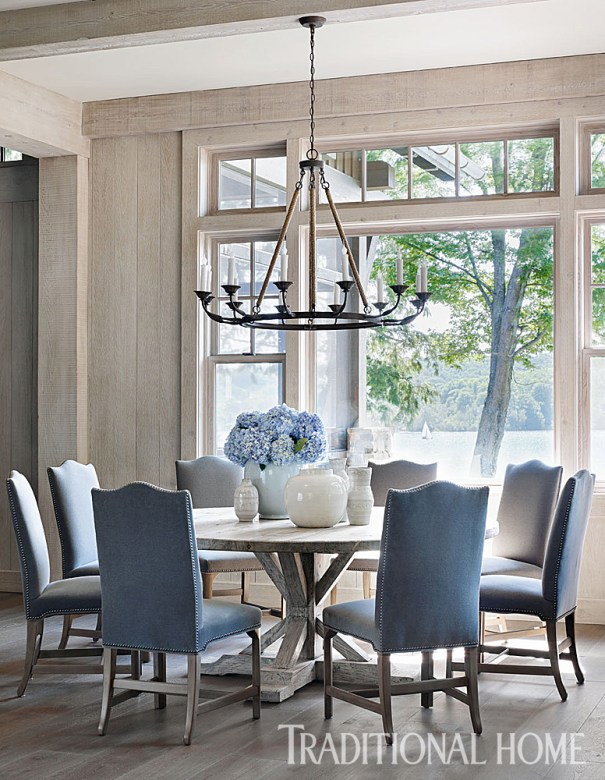 Lovely Dining Room with White Oak Custom Finish Flooring, Beth Webb