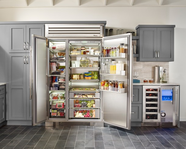 Chef's Kitchen Equipped with True 48 Refrigeration Residential Appliances