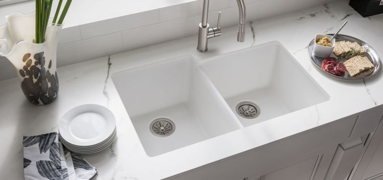 Quartz Classic, White Color Finish, Elkay