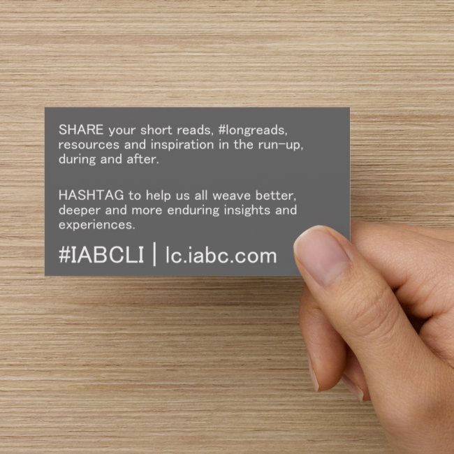 2015 #IABCLI Hashtag Reference Card handheld back
