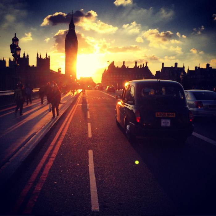 Westminster Bridge Sunset by Michael Ambjorn
