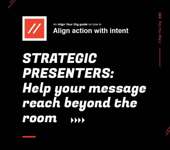 #AlignYourOrg Guide on how to align action with intent