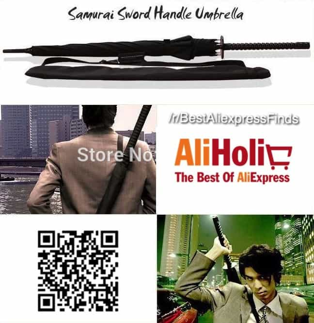 Samurai sword umbrella Aliexpress