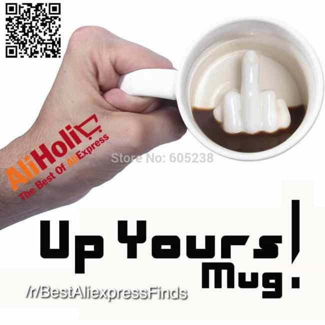 Up Yours middle finger mug Aliexpress