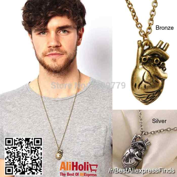 Anatomically correct heart necklace AliExpress