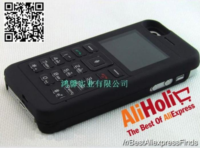 iPhone 4:4S:5 case with an external phone AliExpress