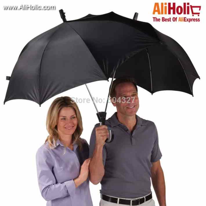 Dualbrella dual umbrella for 2 people AliExpress