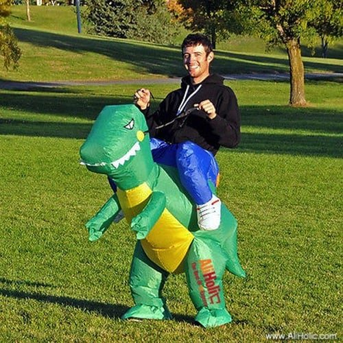 Inflatable dinosaur rider costumer AliExpress