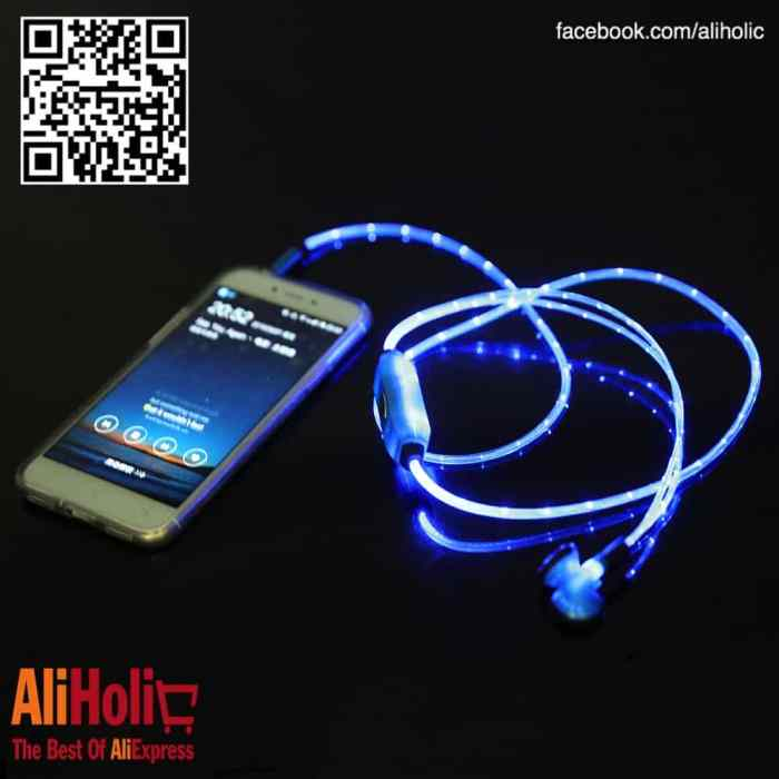 LED earphones