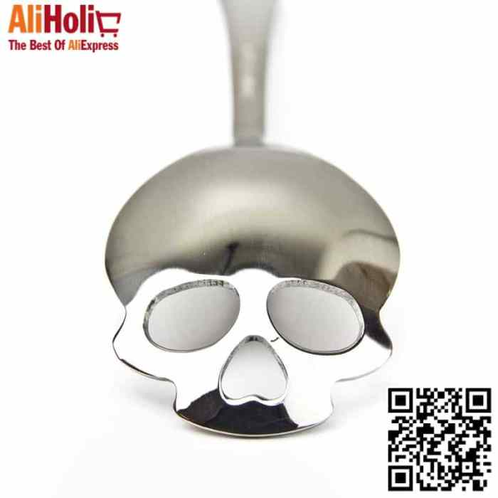 New-Skull-spoon-Tea-Coffee-Spoons-Suck-stainless-steel-Dessert-spoon-free-shipping-Kitchen-tools--1